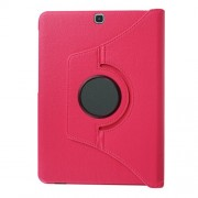 Lychee Skin Leather Rotary Shell for Samsung Galaxy Tab S2 9.7 T810 T815 with Stand - Rose