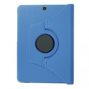For Samsung Galaxy Tab S2 9.7 T810 T815 Lychee Grain Leather Rotary Stand Shell - Baby Blue