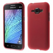 Frosted TPU Back Case for Samsung Galaxy J1 / J1 4G - Red