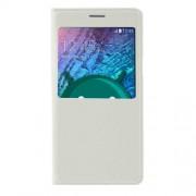 Δερμάτινη Θήκη Βιβλίο Smart Cover με Ενσωματωμένο Καπάκι Μπαταρίας για Samsung Galaxy J5 SM-J500F - Λευκό