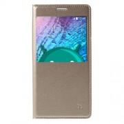 Δερμάτινη Θήκη Βιβλίο Smart Cover με Ενσωματωμένο Καπάκι Μπαταρίας για Samsung Galaxy J5 SM-J500F - Σαμπανιζέ