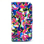 Colorful Geometric Pattern for Samsung Galaxy S3 I9300 Card Slots Leather Stand Cover