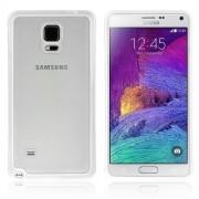 ENKAY Θήκη Σιλικόνης TPU με Διάφανη Σκληρή Πλάτη για Samsung Galaxy Note 4 N910 - Λευκό