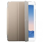 Champagne Tri-fold Single Front Smart Leather Cover + PC Back Case for iPad Air 2