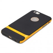 ROCK Royce Series Θήκη Σιλικόνης TPU σε Συνδυασμό με Σκληρή Θήκη για iPhone 6 / 6s - Μαύρο / Κίτρινο