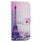 Eiffel Tower and Buildings Card Holder Folio PU Leather Case for iPhone 6s 6 4.7 inch