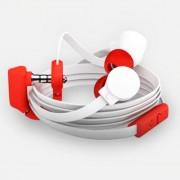 Headphone Coloud Pop Στερεοφωνικά Ακουστικά με Μικρόφωνο - Λευκό/Κόκκινο