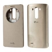 Δερμάτινη Θήκη Βιβλίο Smart Cover με Ενσωματωμένο Καπάκι Μπαταρίας και Ενσωματωμένο Τσιπ Ασύρματης Φόρτισης για LG G3 D850 - Σαμπανιζέ