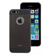 Moshi iGlaze Armour Thin Metal Case for iPhone 5 5s (99MO061002) - Black