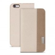 Moshi Overtune Leather Wallet Stand Case for iPhone 6 / 6s (99MO052101) - Sahara Beige