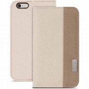 Moshi Overtune Leather Wallet Stand Case for iPhone 6 Plus / 6s Plus (99MO052102) - Sahara Beige
