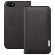 Moshi Overtune Leather Wallet Case for iPhone 5 5s (99MO052002) - Black