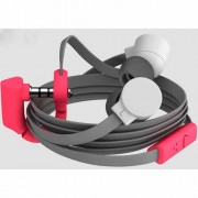 Headphone Coloud Pop Στερεοφωνικά Ακουστικά με Μικρόφωνο - Γκρι/Φούξια
