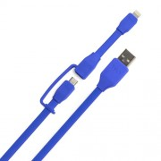 SYNCABLE-DUO Lightning/Micro USB Data Sync Charger Cable - Blue
