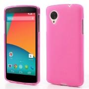 Θήκη Σιλικόνης TPU Ματ για LG Google Nexus 5 D821 D820 - Φούξια