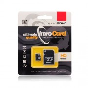 Imro Κάρτα Μνήμης microSD 8GB με Αντάπτορα SD