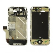 Middle Metal Plate Faceplates Frame Assembly Replacement for iPhone 4S - Silver