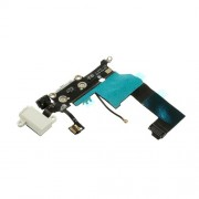 Charging Port Dock Connector Earphone Jack Flex Cable for iPhone 5 (OEM, not brand new) - White