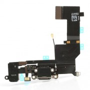 For iPhone 5s Dock Connector Charging Port Flex Cable Replacement OEM - Black