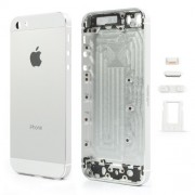 High Quality Full Housing Faceplates Buttons SIM Card Tray for iPhone 5s - White / Silver