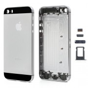 High Quality Full Housing Faceplates for iPhone 5s w/ Buttons SIM Card Tray - Black / Grey