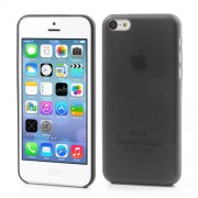 0.3mm Ultra Slim Hard Plastic Cover Case for iPhone 5C - Black