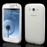 Slim Matte for Samsung Galaxy Grand I9080 I9082 / Neo i9060 i9062 TPU Case w/ Anti-dust Plug - Translucent