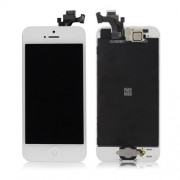 White for iPhone 5 LCD Assembly w/ Touch Screen + Digitizer Frame + Front Camera Lens + Home Button + Earpiece