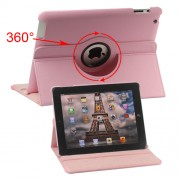 360 Degree Rotating New iPad 2 3 4 Leather Case Cover with Stand - Pink