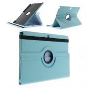 Περιστρεφόμενη Δερμάτινη Θήκη Βιβλίο με Βάση Στήριξης για Samsung Galaxy Note Pro 12.2 P900 / Tab Pro 12.2 T900 - Γαλάζιο