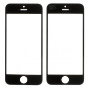 Black Front Outer Glass Lens Cover for iPhone 5s (High Quality)