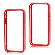 Θήκη Bumper Πλαστικό με Σιλικόνη TPU για iPhone 4 4S - Κόκκινο/Διάφανο