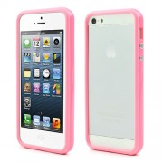 Stylish for iPhone 5s 5 Combo Plastic & TPU Bumper Cover - Pink