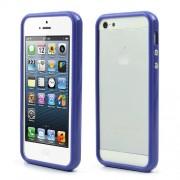 Θήκη Bumper Σιλικόνης TPU και Πλαστικό για iPhone 5 5s - Σκούρο μπλε