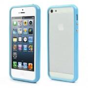 Θήκη Bumper Σιλικόνης TPU και Πλαστικό για iPhone 5 5s - Γαλάζιο
