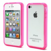 Rose for iPhone 4 4S Flexible TPU Translucent Bumper Cover