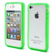 Green for iPhone 4 4S Flexible TPU Translucent Bumper Cover