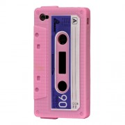 Cassette Tape Silicone Case for iPhone 4 4S - Pink