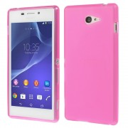 Rose Double-sided Frosted Flex TPU Case for Sony Xperia M2 D2303 / M2 Dual D2302