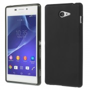 Black Double-sided Frosted TPU Skin Case for Sony Xperia M2 D2303 / M2 Dual D2302