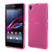 Double-sided Matte TPU Shell for Sony Xperia Z1 Honami C6903 C6906 C6902 C6943 L39h - Translucent Rose