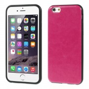 Crazy Horse Leather Coated TPU Gel Cover for iPhone 6 / 6s - Rose