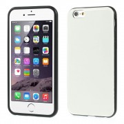 Crazy Horse Leather Coated TPU Gel Cover for iPhone 6 / 6s - White