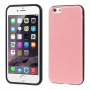 Crazy Horse Leather Coated TPU Gel Case for iPhone 6 / 6s - Pink