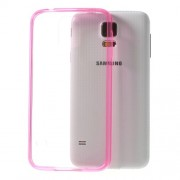 Θήκη Σιλικόνης TPU με Πλαστική Διάφανη Πλάτη για Samsung Galaxy S5 G900T - Φούξια