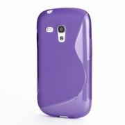 S-Curve TPU Gel Case Cover for Samsung Galaxy S III / 3 Mini I8190 - Purple