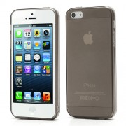 New for iPhone 5 5s Transparent Clear TPU Gel Skin Case - Grey