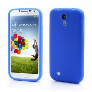 Flexible Silicone Skin Protector Case for Samsung Galaxy S4 IV S4g i9500 i9502 i9505 - Blue