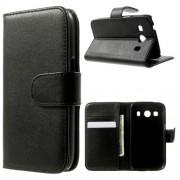 Δερμάτινη Θήκη Πορτοφόλι με Βάση Στήριξης για Samsung Galaxy Ace 4 SM-G357FZ / Ace Style LTE G357FZ - Μαύρο