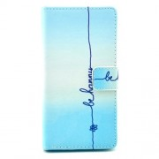Leather Wallet Case for Sony Xperia M2 D2305 / M2 Dual D2302 - Quote Be Happy